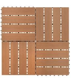 Συνθετικό Πλακάκι WPC 30x30cm 11τμχ 1m2 Καφέ  40825