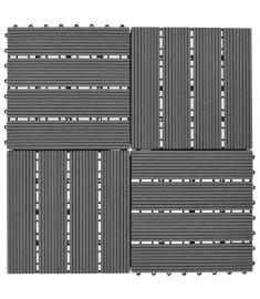 Συνθετικό Πλακάκι WPC 30x30cm 11τμχ 1m2 Γκρι  40826