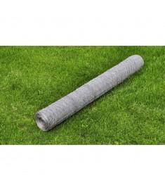 Εξαγωνικό πλέγμα 75 cm x 25 m PVC Πάχους 0,75 mm
