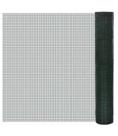 Τετραγωνικό πλέγμα 1x10 m Γαλβανισμένο PVC Μέγεθος οπής 19 x 19 mm