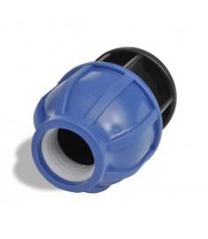 Ταχυσύνδεσμος πολυαιθυλενίου Στοπ 16 bar 25mm 2τμχ