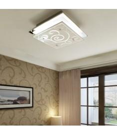 Φωτιστικό Οροφής Τετράγωνο με Σχέδια Ντουί 1 x E27  240544