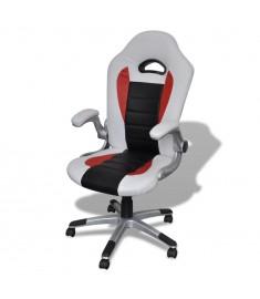 Καρέκλα γραφείου Συνθετικό δέρμα Μοντέρνο σχέδιο Λευκή  20072