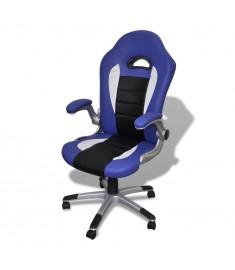 Καρέκλα γραφείου Συνθετικό δέρμα Μοντέρνο σχέδιο Μπλε  20074