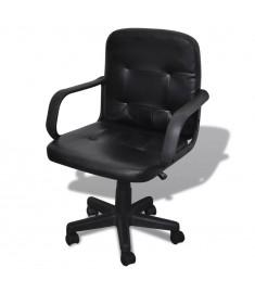 Πολυτελής Καρέκλα Γραφείου Μαύρη  20076