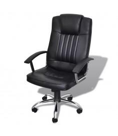 Καρέκλα Γραφείου Πολυτελής Ποιοτική Μαύρη 65 x 66 x (107-117) εκ.  20077