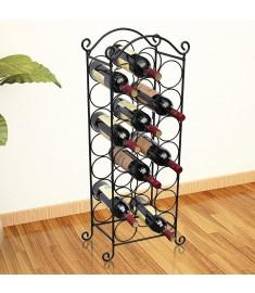 Ραφιέρα Κρασιών για 21 Μπουκάλια Μεταλλική   50206