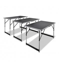 Τραπέζι για Κόλληση Ταπετσαρίας 3 τεμ. Πτυσσόμενο Ρυθμ. Ύψος   140641