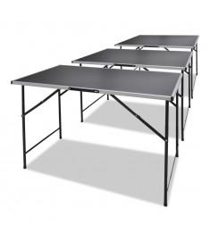 Τραπέζια για Κόλληση Ταπετσαρίας 3 τεμ. Πτυσσόμενα   140735