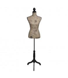 Γυναικείο μπούστο ραπτικής Ύφασμα γιούτας Κούκλα βιτρίνας   30029