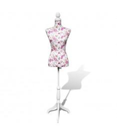 Γυναικείο μπούστο ραπτικής Βαμβακερό λευκό Κούκλα βιτρίνας   30030