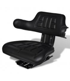 Κάθισμα Τρακτέρ με Πλάτη Μαύρο  210202