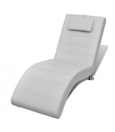 Ανάκλιντρο με Μαξιλάρι Λευκό από Συνθετικό Δέρμα   240710