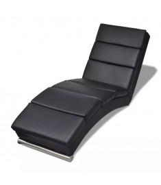 Ανάκλιντρο Μαύρο από Συνθετικό Δέρμα   240711