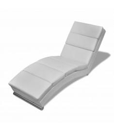 Ανάκλιντρο Λευκό από Συνθετικό Δέρμα   240712