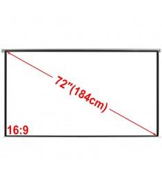 Οθόνη Προβολής Χειροκίνητη Λευκή Ματ 160x90 εκ. 16:9 Επιτοίχια/Οροφής  240713