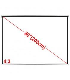 Χειροκίνητη οθόνη προβολής 160 x 123 cm Λευκό ματ 4:3  240714