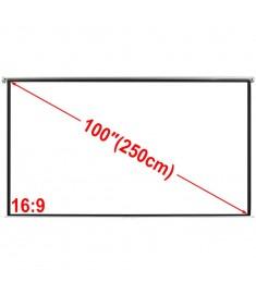 Χειροκίνητη οθόνη προβολής 200 x 153 cm Λευκό ματ 4:3   240717