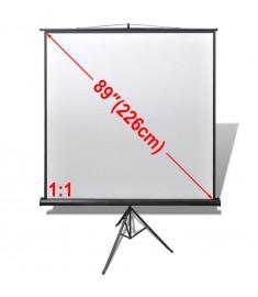 Χειροκίνητη οθόνη προβολής 160 x 160 cm 1:1 Ρυθμιζόμενη βάση   240726