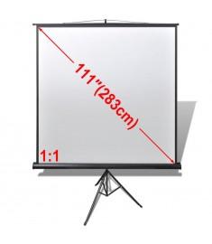 Χειροκίνητη οθόνη προβολής 200 x 200 cm 1:1 Ρυθμιζόμενη βάση  240727