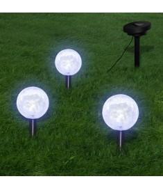 3 Ηλιακοί γλόμποι για τον κήπο με LED  40870