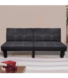 Καναπές - Κρεβάτι Ρυθμιζόμενος Μαύρος Υφασμάτινος    240782