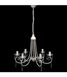 Φωτιστικό Οροφής Πολυέλαιος με 6 Θέσεις Λαμπτήρων Λευκός   240690