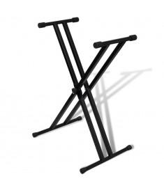 Βάση για πλήκτρα ρυθμιζόμενη Διπλά πόδια Σε σχήμα Χ  70030