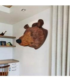 Διακοσμητικό τοίχου Αρκούδα με φυσική όψη  240869