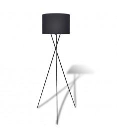 Φωτιστικό Δαπέδου με Καπέλο και Ψηλή Βάση Μαύρο  240901