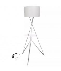Φωτιστικό Δαπέδου με Καπέλο και Ψηλή Βάση Λευκό  240902