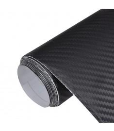 Μεμβράνη Αυτοκινήτου 3D Ανθρακόνημα Μαύρη 152 x 200 εκ. από Βινύλιο  150135