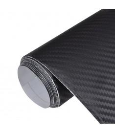 Μεμβράνη Αυτοκινήτου 3D Ανθρακόνημα Μαύρη 152 x 500 εκ. από Βινύλιο   150136