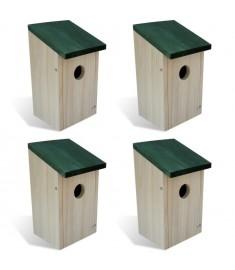 Ξύλινο σπιτάκι πουλιών 4 τμχ   41012