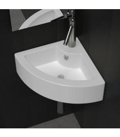 Νιπτήρας Γωνιακός με Οπή Βρύσης/Υπερχείλισης Λευκός Κεραμικός   140697