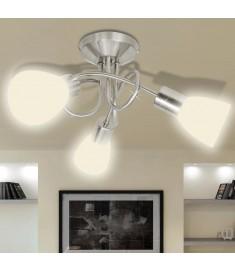 Φωτιστικό Οροφής με Γυάλινα Καπέλα για 3 Λαμπτήρες Ε14  240983