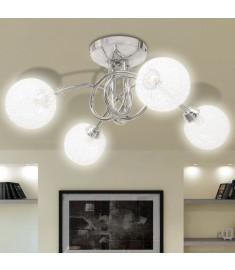 Φωτιστικό Οροφής με Καπέλα Συρμάτινης Πλέξης για 4 Λαμπτήρες G9  240984