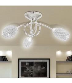 Φωτιστικό Οροφής με Λευκό Ακρυλικό Κρύσταλλο 3φωτο G9   240990