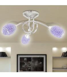 Φωτιστικό Οροφής με Μωβ Ακρυλικό Κρύσταλλο 3φωτο G9  240991