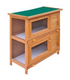 Κλουβί Κουνελιών/Σπίτι Μικρών Ζώων Εξωτ. Χώρου 4 Πόρτες Ξύλινο  170159
