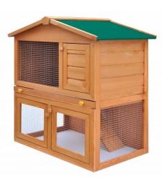 Κλουβί Κουνελιών/Σπίτι Μικρών Ζώων Εξωτ. Χώρου 3 Πόρτες Ξύλινο   170160