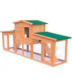 Κλουβί Κουνελιών/Σπίτι Μικρών Ζώων Εξωτ. Χώρου Μεγάλο Ξύλινο     170163