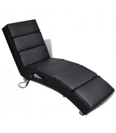 Πολυθρόνα Μασάζ Ανακλινόμενη Μαύρη από Συνθετικό Δέρμα    240968