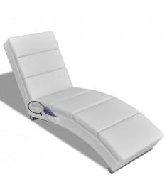 Πολυθρόνα Μασάζ Ανακλινόμενη Λευκή από Συνθετικό Δέρμα    240969