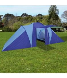 Σκηνή camping 6 ατόμων Ναυτικό μπλε/Γαλάζιο  90512