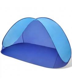 Σκηνή Παραλίας Αναδιπλούμενη Αδιάβροχη με Ηλιοπροστασία Μπλε Ανοιχτό  90518