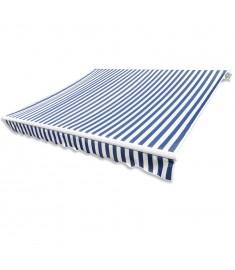 Ύφασμα Τέντας Μουσαμάς Μπλε και Λευκό 3x2,5 m  141010