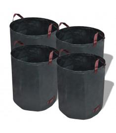 Τσάντα Απορριμμάτων Κήπου 4 τεμ. Σκούρο Πράσινο 120 Λίτρα 150 γρ./μ²  41136
