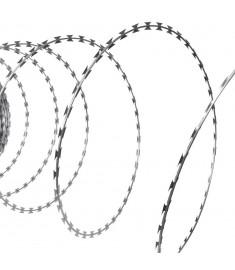 Αγκαθωτό Σύρμα Τύπου ΝΑΤΟ από Γαλβανισμένο Χάλυβα Ρολό 60 m  141076