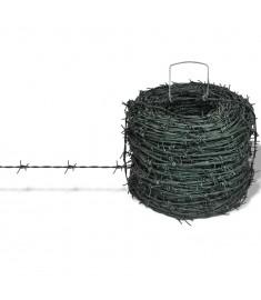 Αγκαθωτό Συρματόπλεγμα Πράσινο Ρολό 100 m    141077